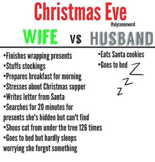 Christmas Eve WIFE VS HUSBAND Eats Santa Cookies Finishes Wrapping