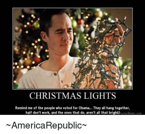 Christmas Light Meme.Christmas Lights Remind Me Of The People Who Voted For Obama They