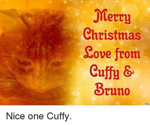 Christmas Ove From Cuffu & Bruno Pixiz Nice One Cuffy | Meme on ME ME
