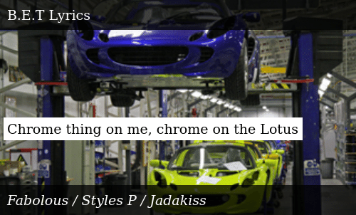 Chrome Thing on Me Chrome on the Lotus | Meme on ME ME