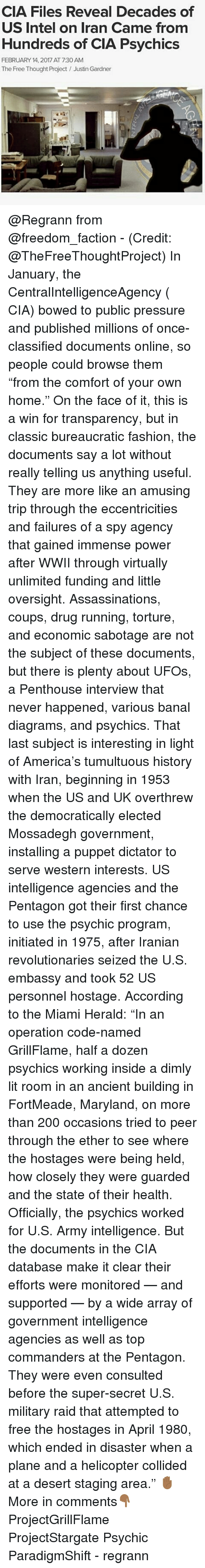 CIA Files Reveal Decades of US Intel on Iran Came From Hundreds of