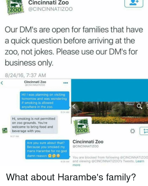 Cincinnati Zoo Zoo Our Dm S Are Open For Families That Have A Quick