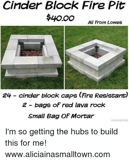 memes pinterest and lowes cinder block fire pit 40oo all from