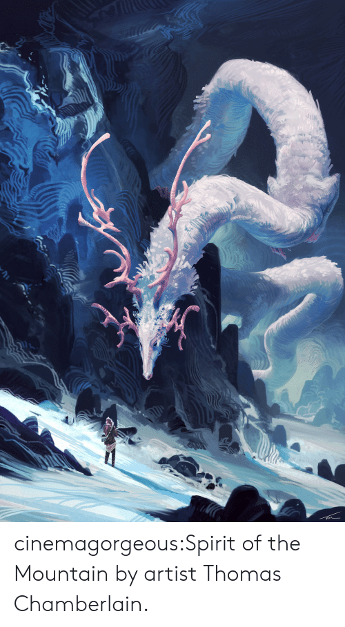 Tumblr, Blog, and Http: cinemagorgeous:Spirit of the Mountain by artistThomas Chamberlain.