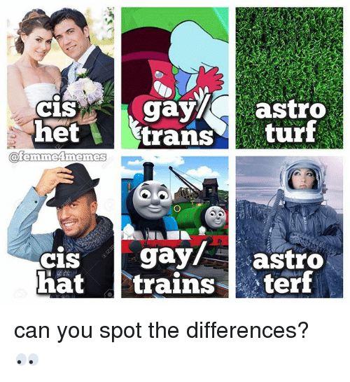 Cis Het Turf OfemmeAmennes Gay Astro Cis Hat Trains Can You Spot the ...