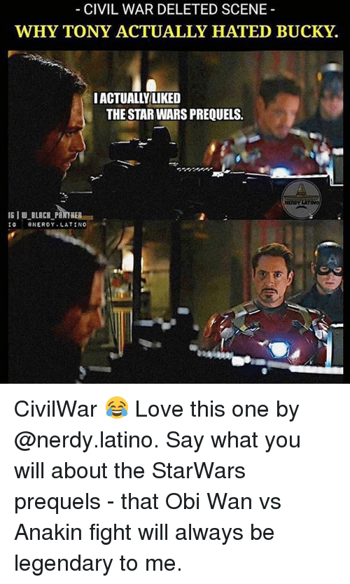 Civil war deleted scene why tony actually hated bucky iactuall love memes and star wars civil war deleted scene why tony actually hated solutioingenieria Choice Image