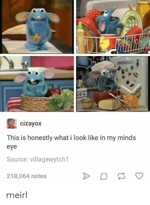 MeIRL, Eye, and Source: cizayox  This is honestly what i look like in my minds  eye  Source: villagewytch1  218,064 notes meirl