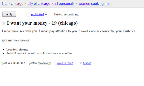 Chicago women looking for sex
