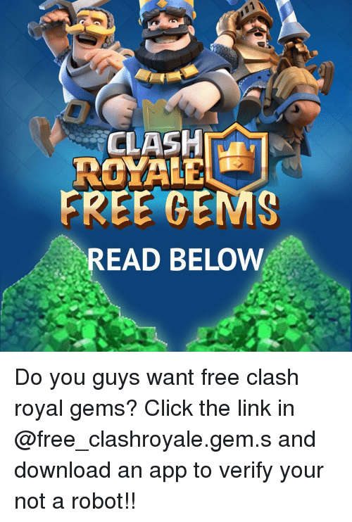 free gems on clash royale