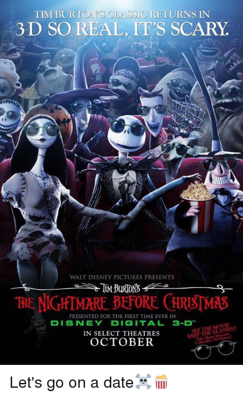 christmas dating and disney classic tim burt returns in 3 d so - Scary Christmas Movie