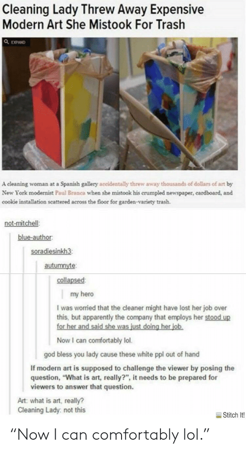 Cleaning Lady Threw Away Expensive Modern Art She Mistook For Trash