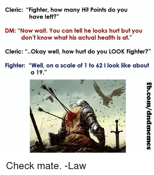 Combat, Armor , Heath, and Damage and How it Works. Must Read Cleric-fighter-how-many-hit-points-do-you-have-left-17633123