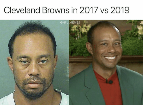 Cleveland Browns, Memes, and Nfl: Cleveland Browns in 2017 vs 2019  @NFL MEMES