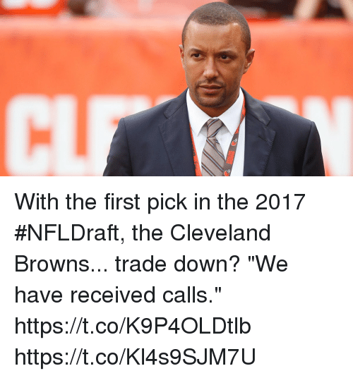 CLEVELAND With the First Pick in the 2017 #NFLDraft the Cleveland ...