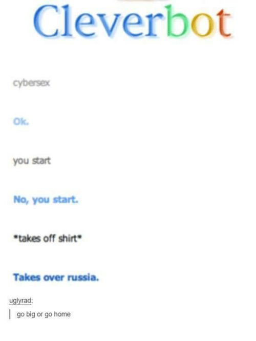 clever bot ok you start no you start takes off 4744701 ✅ 25 best memes about clever bot clever bot memes