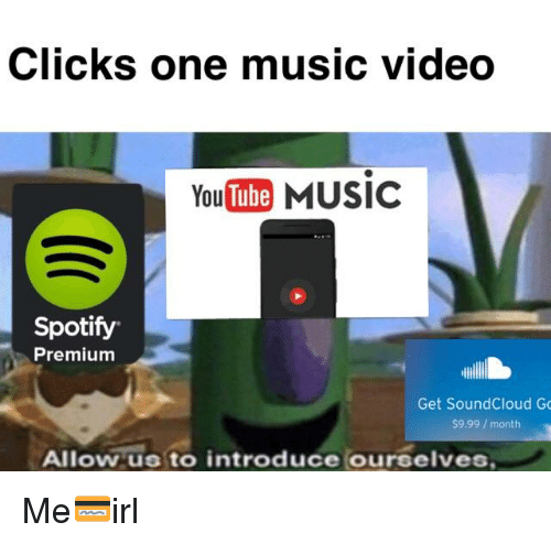 Clicks One Music Video YouTube MUSIC Spotify Premium Get