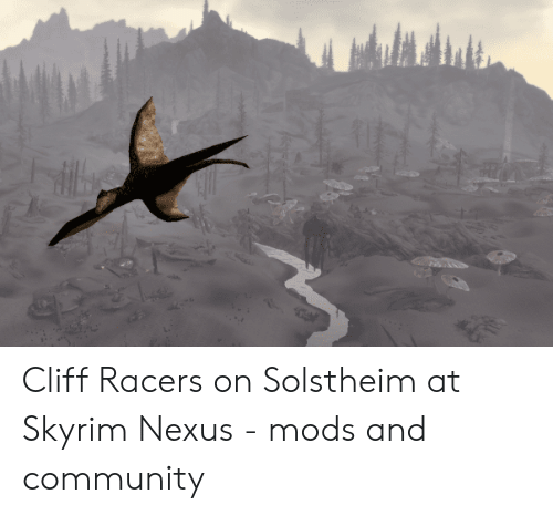 Cliff Racers on Solstheim at Skyrim Nexus - Mods and Community