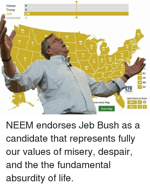 jeb bush life and maps clinton trump jeb 0 undecided or ak nd