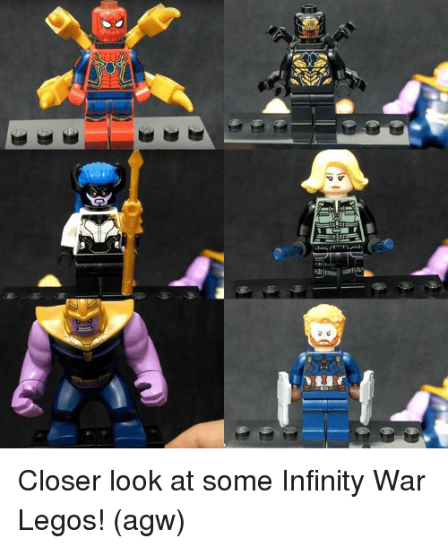 Memes, Infinity, and Legos: Closer look at some Infinity War Legos!   (agw)