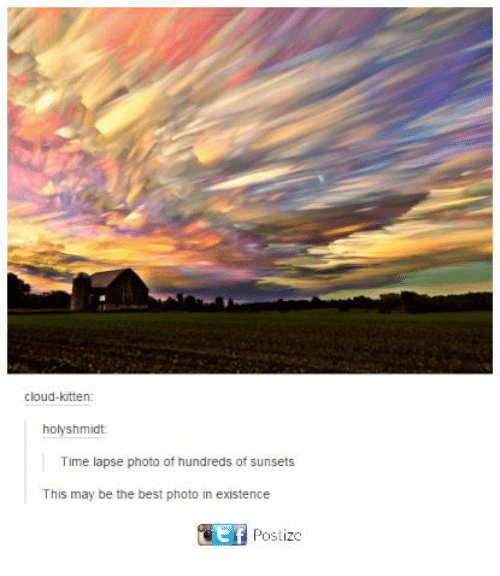 Dank, Best, and Cloud: cloud-kitten:  hoyshmidt:  Time lapse photo of hundreds of sunsets  This may be the best photo in existence  Postize