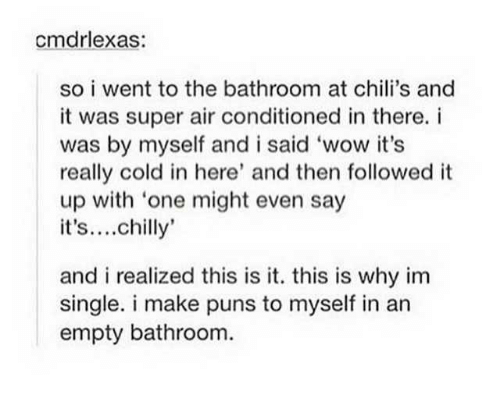 Cmdrlexas So I Went To The Bathroom At Chili's And It Was Super Air Interesting Bathroom Puns