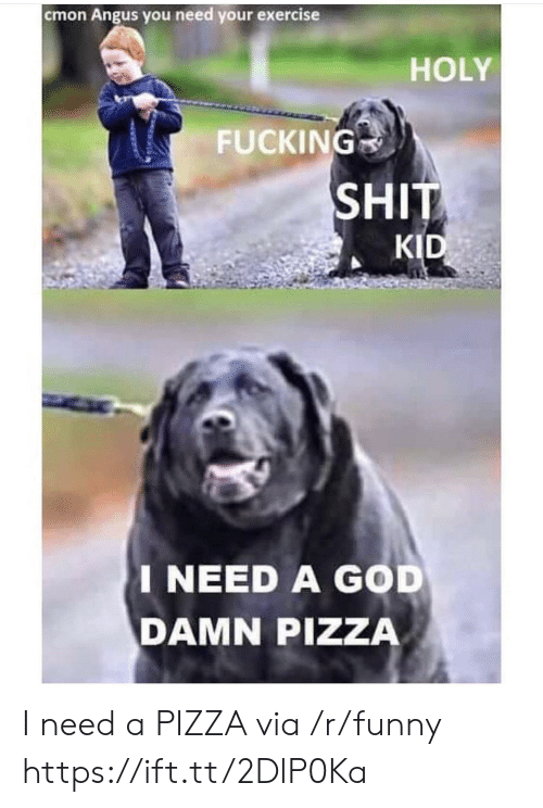 Fucking, Funny, and God: cmon Angus you need your exercise  HOLY  FUCKING  SHIT  KID  I NEED A GOD  DAMN PIZZA I need a PIZZA via /r/funny https://ift.tt/2DlP0Ka