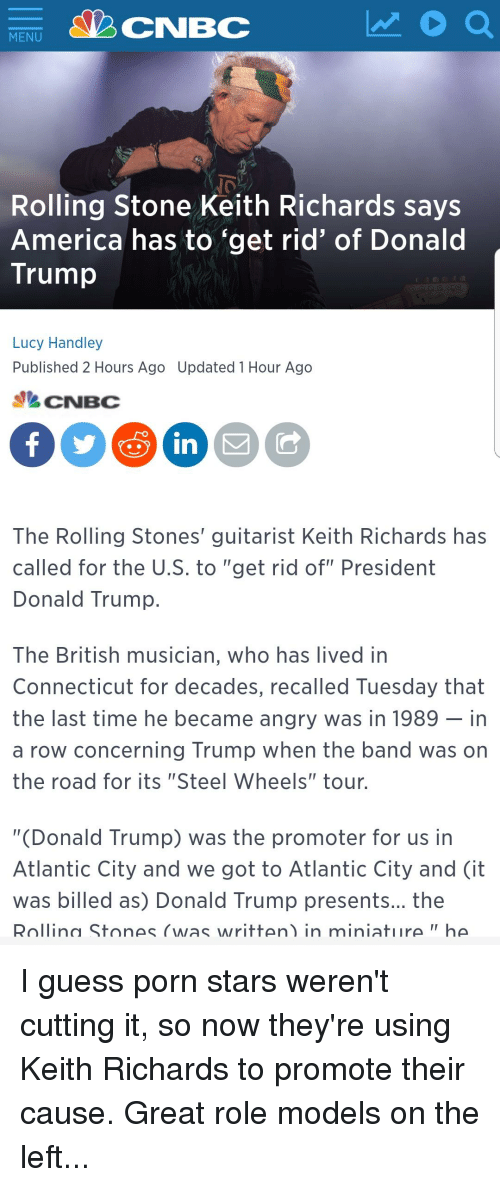 CNBC MENU Rolling Stone Keith Richards Says America Has to