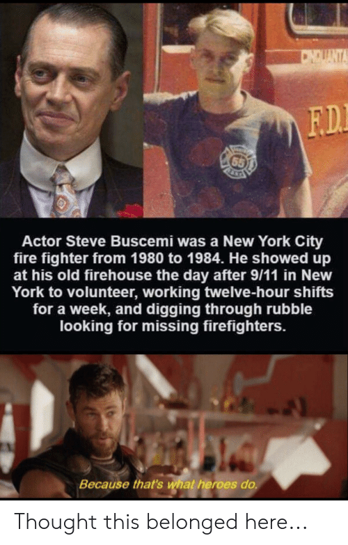 CNDUANT FD 65 Actor Steve Buscemi Was A New York City Fire