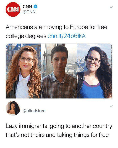 Cnn College And Dank Americans Are Moving