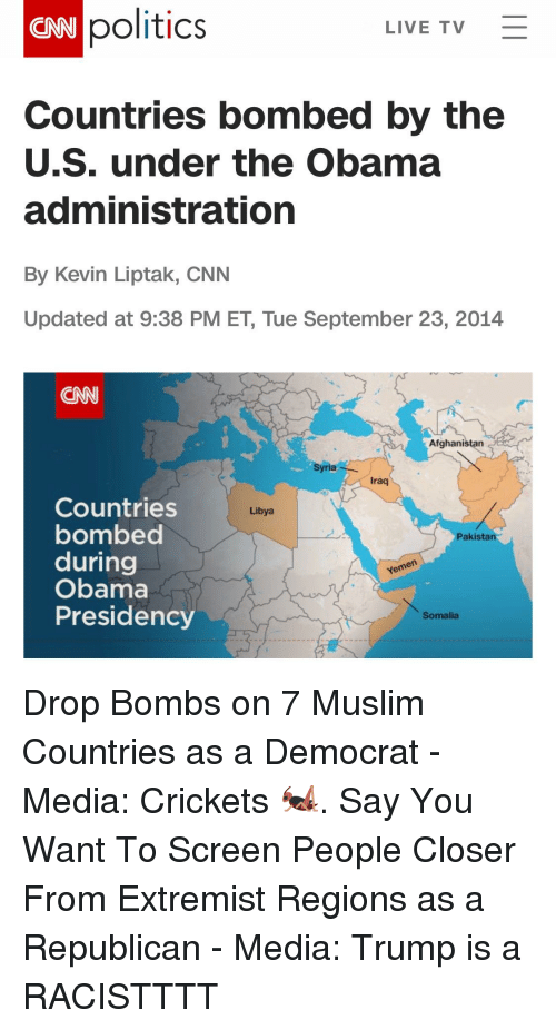 CNNC Politics LIVE TV Countries Bombed by the US Under the Obama