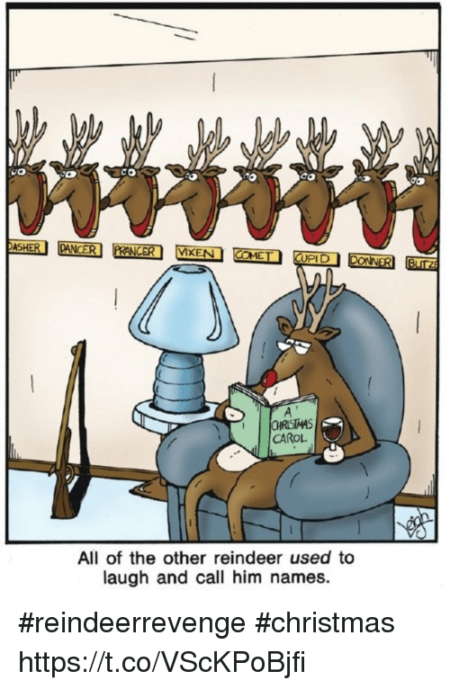 co dasher vixen upi ohristmas carol all of the other reindeer used