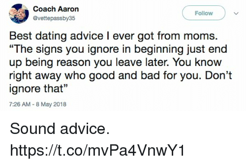 Best dating advice i ever got