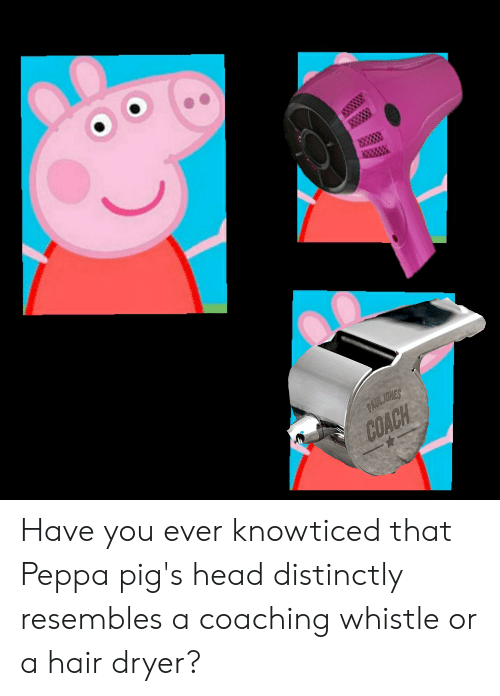 Coach Have You Ever Knowticed That Peppa Pig S Head Distinctly
