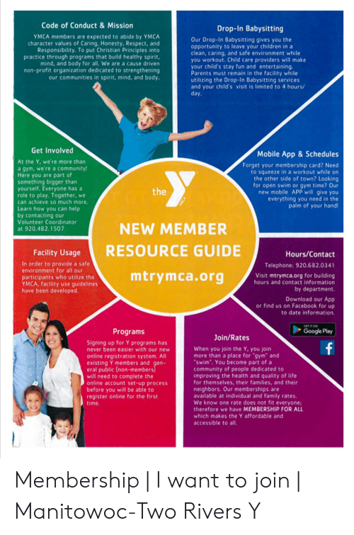 Caring About Our Neighbors As Expected >> Code Of Conduct Mission Drop In Babysitting Ymca Members