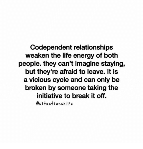 Breaking codependent relationships