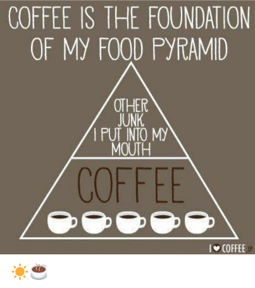 COFFEE IS THE FOUNDATION OF My FOOD PYRAMID OTHER JUNK MOUTH