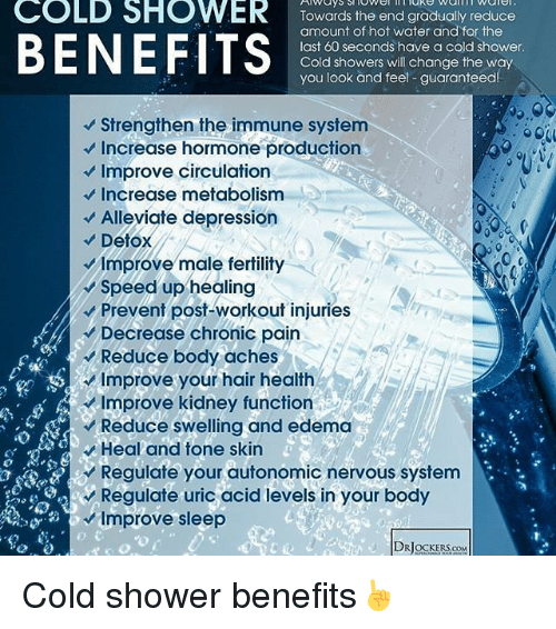 Benefits of cold showers for women
