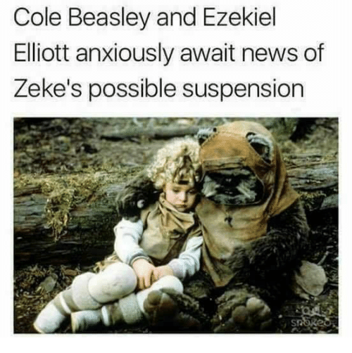 Image result for cole beasley ezekiel elliott