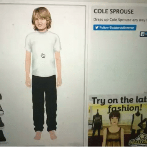 [ ! ] Dress Up Cole Sprouse