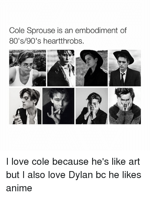 Cole Sprouse Is An Embodiment Of 80's 90's Heartthrobs I