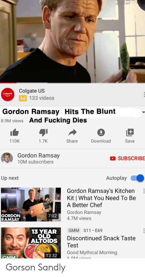 Colgate US Ad 133 Videos Colgate Gordon Ramsay Hits the