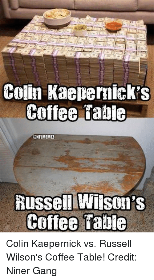 Enjoyable Colin Kaepernick Coffee Table Russelllwilson Coffee Tabie Ncnpc Chair Design For Home Ncnpcorg