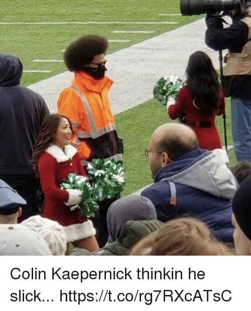 Colin Kaepernick, Football, and Nfl: Colin Kaepernick thinkin he slick... https://t.co/rg7RXcATsC
