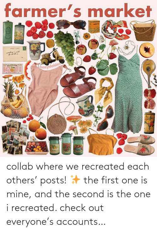 Mine, One, and First: collab where we recreated each others' posts! ✨ the first one is mine, and the second is the one i recreated. check out everyone's accounts…