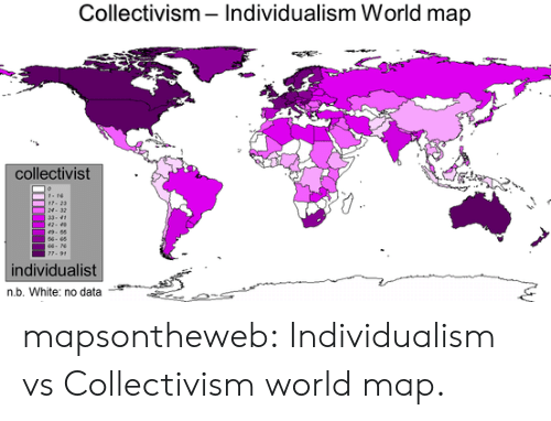 Collectivism Individualism World Map Collectivist N 32