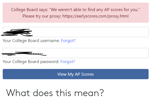 College Board Says We Weren't Able to Find Any AP Scores for