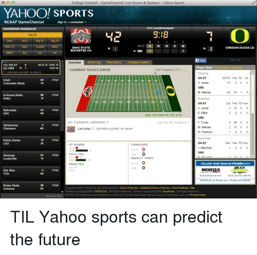 College Football GameC...L Sign In Yahoo