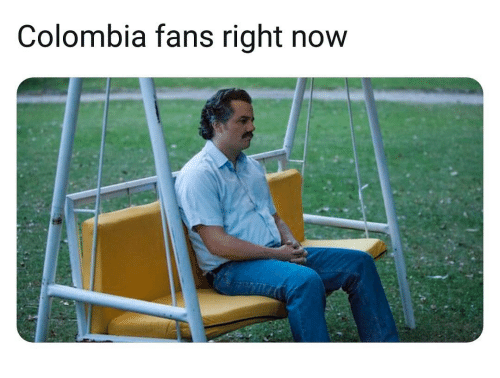 Memes, Colombia, and 🤖: Colombia fans right now