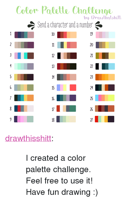 Color Palelle Challenge Send a Character and a Number by