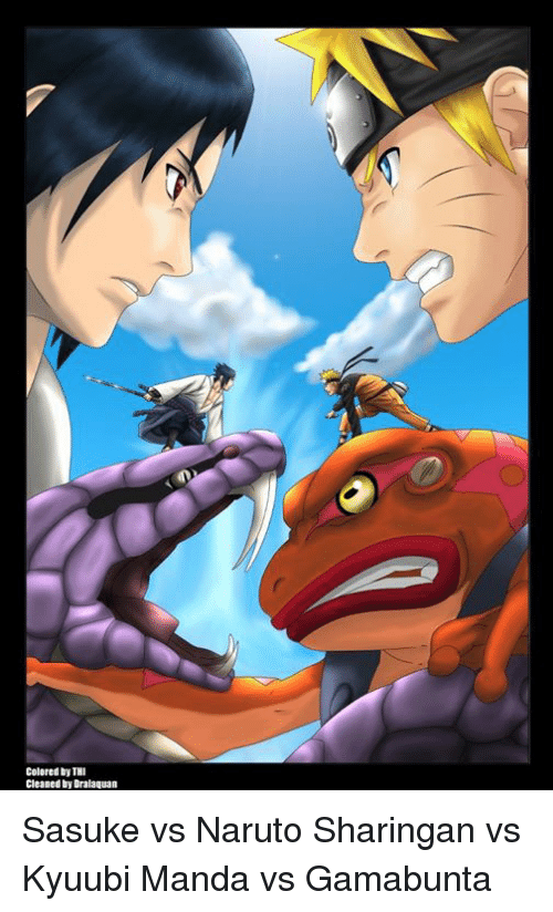 colored by thi cleaned by dralaquan sasuke vs naruto sharingan vs